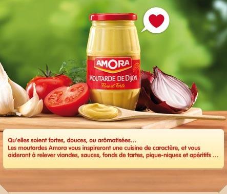 Euro food depot amora mustard moutarde de dijon fine french strong dijon mustard eurofood - Cuisine moutarde ...