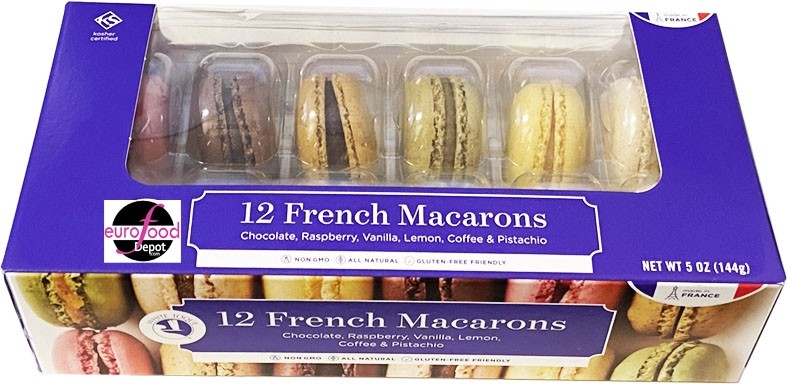 French Macarons Assortment -12 Macarons - All Natural