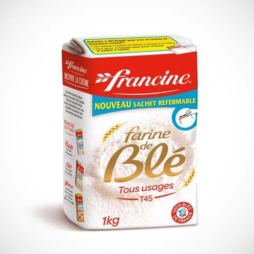 Francine Farine de Blé T45 - French Wheat Flour (2.2 lbs/1Kg)