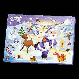 Chocolate advent calendar by Milka