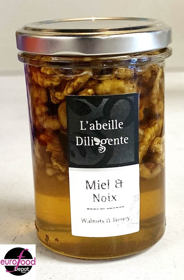 Acacia honey w/ walnuts from Abeille Diligente