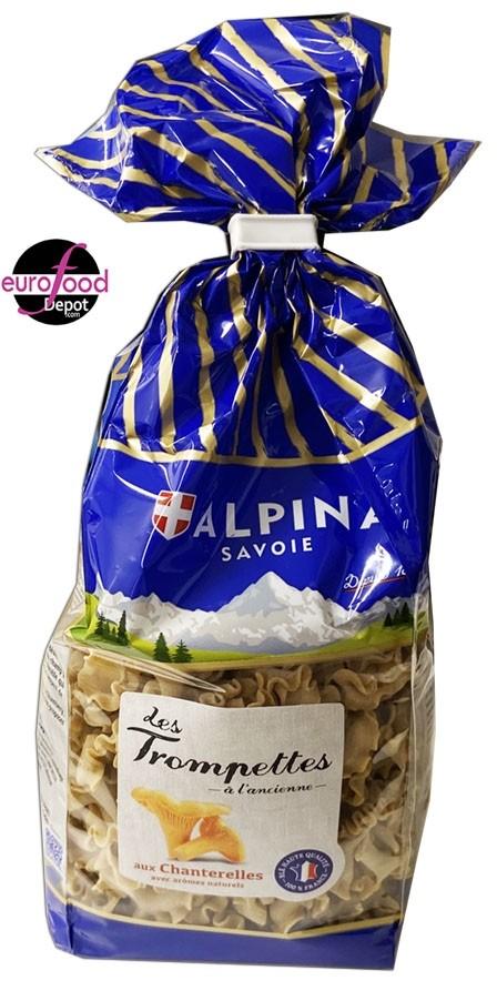 Chanterelle trumpets pasta Alpina Savoie