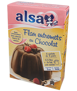 Alsa French Flan Onctueux Saveur Chocolat