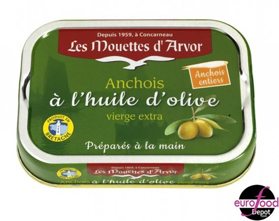 Whole anchovy in Extra Virgin Olive Oil - Mouettes D'Arvor
