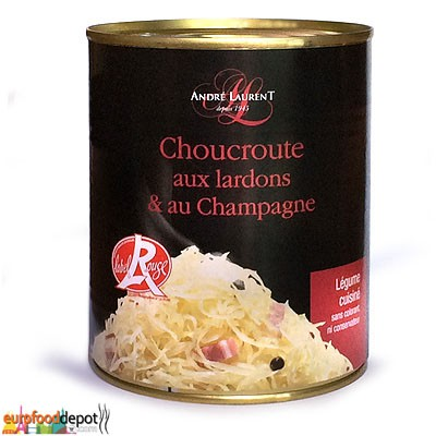 Sauerkraut / Choucroute with Lards & Champagne (810g-29oz)