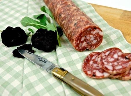 Black Truffle Salami Pre-sliced / saucisson sec à la truffe noire