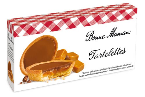 French Chocolate and Caramel Tarts Bonne Maman (4.4 oz/125g)