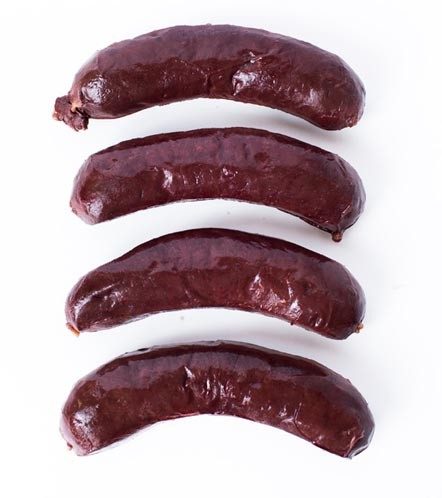Boudin Noir / Blood Sausage Fabrique-delices 4 Link Pack - 1 Lb - All natural