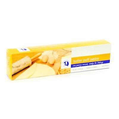 2 Butter Puff Pastry Rolls - Pate feuilletée (1lb/460g)