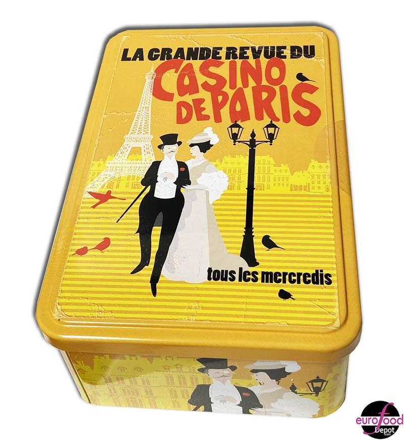"Small pure butter galettes with honey in a metal tin ""Casino de Paris"" by Le Manoir des Abeilles"