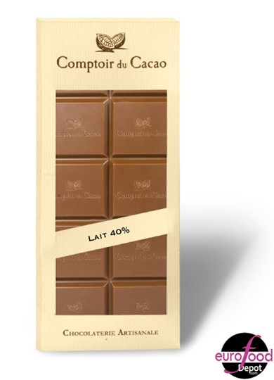 Comptoir du Cacao - Low Sugar Milk Chocolate Bar - (2.82oz/80g)