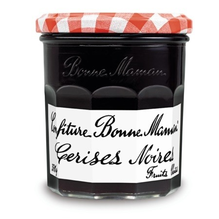 Black cherry Jam, Bonne Maman From France