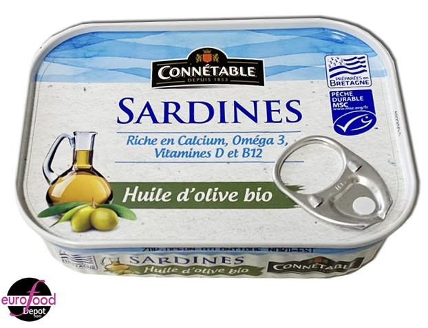 Sardines in organic EVOO by Connetable