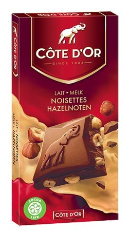 Cote d'Or Belgian Milk Chocolate With Whole Hazelnuts