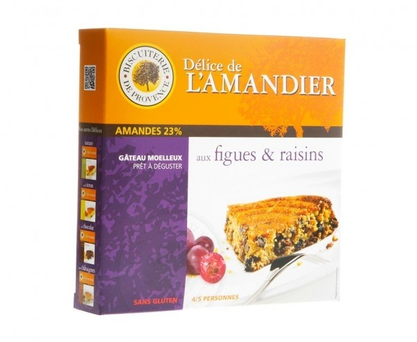 Gluten Free - Fig and grapes gourmet cake (8.47oz/240g)