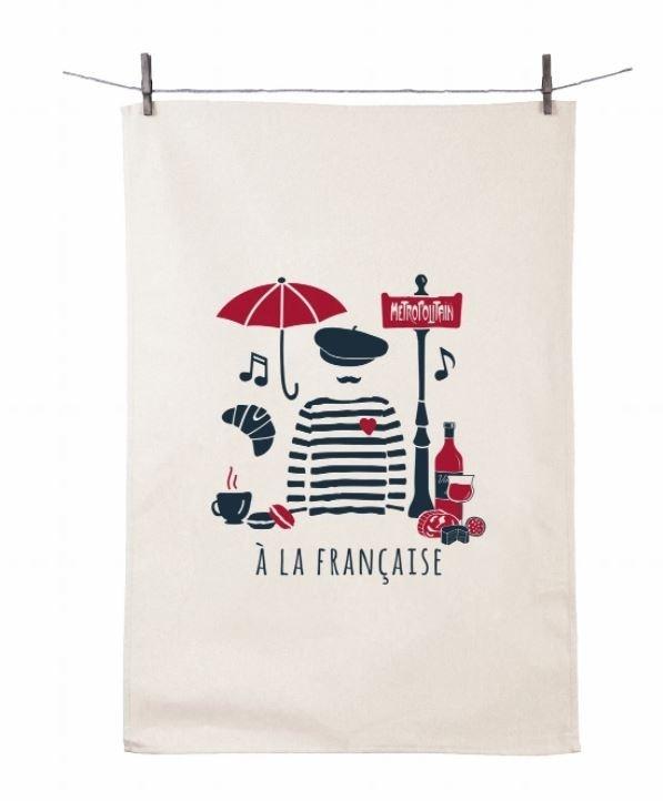 "Dish Towel ""Tissage a la Francaise (Beret)"" (21.6"" x 31.4"")"