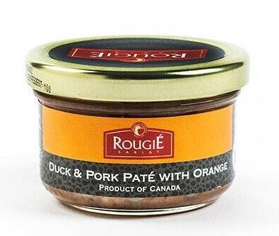 Duck and Pork Paté with orange Rougie (glass Jar 2.8 oz/80g)