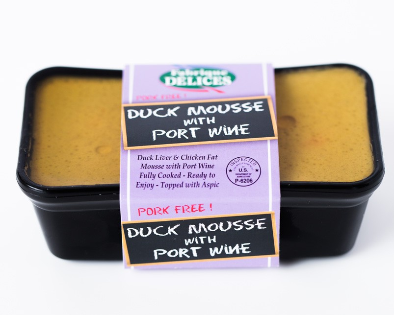Duck Mousse With Port wine Fabrique Delices (Pork Free) All natural - 7 Oz