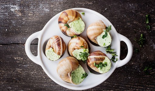 12 Snails (Escargots) Extra Large in Shell with Garlic & Parsley