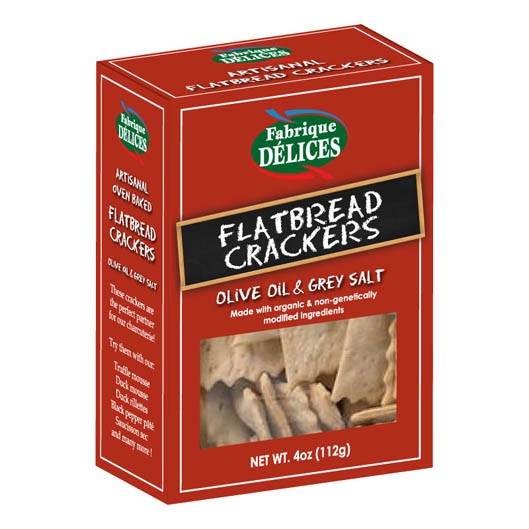 FLATBREAD CRACKERS / Fabrique Delices (4oz/112g)