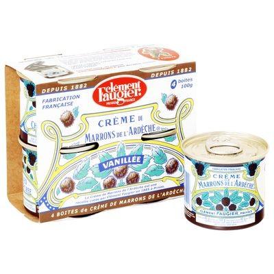 Clement Faugier Chestnut Spread 4 X 3,5 oz (4X100gr Gr) .