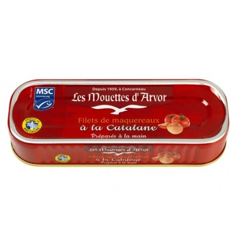 Mackerel Fillets with Catalane Sauce - Mouettes D'Arvor (5.96oz/169g)