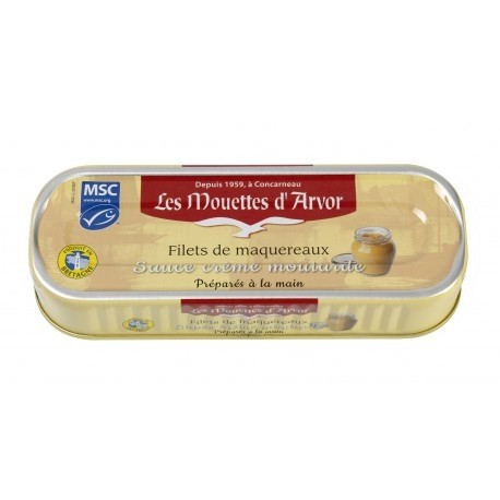 Filets of Mackerel in creamy mustard sauce