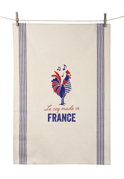 """Dish Towel """"Le Coq Made in France"""" (21.6"""" x 31.4"""")"""