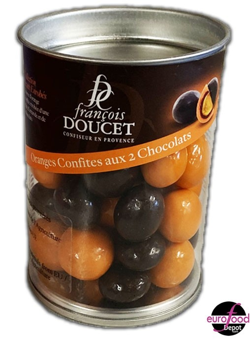 Candied orange w/ two chocolates by Francois Doucet