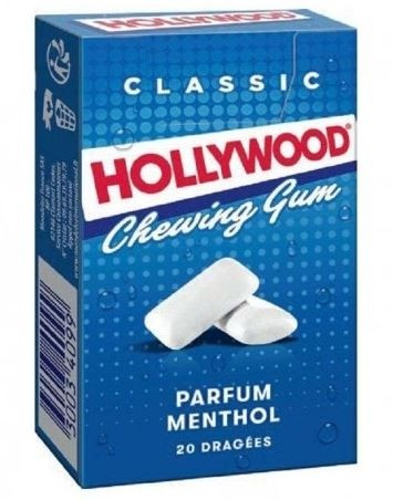 Hollywood chewing gum menthol flavour (28g)