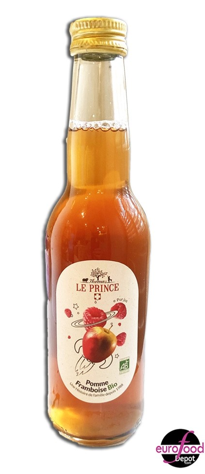 Organic Apple Raspberry juice Thomas Le Prince 33cl