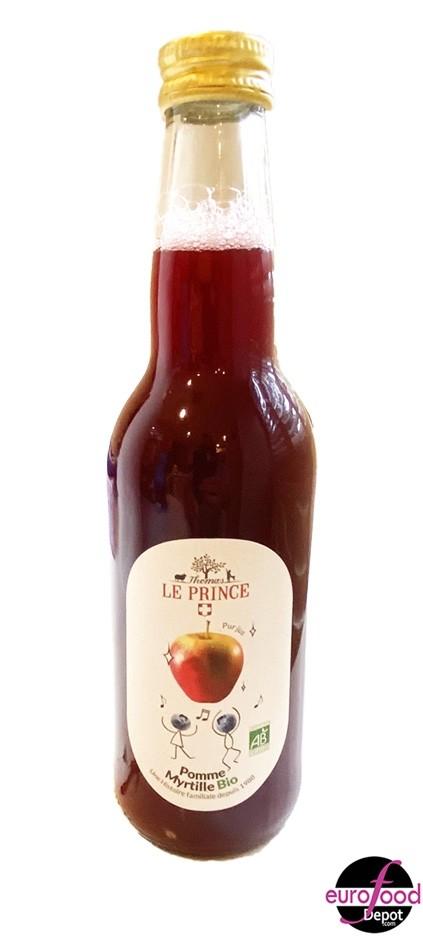 Organic Apple Blueberry juice Thomas Le Prince 33cl