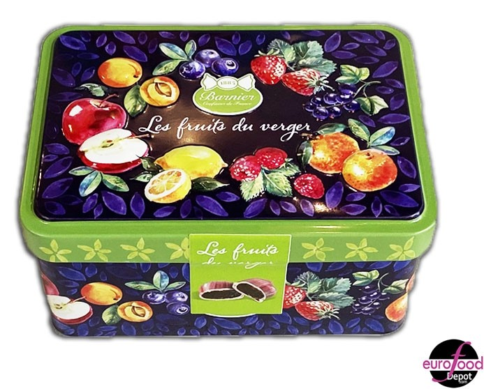 Assortment of Fruit-Filled Candies Tin  by Barnier