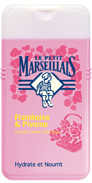 French Shower Cream Extra Gentle - Le Petit Marseillais - Raspberry and Peony (8.8oz/250ml)