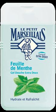 French Shower Cream Extra Gentle - Le Petit Marseillais - Mint Leaf (8.8oz/250ml)