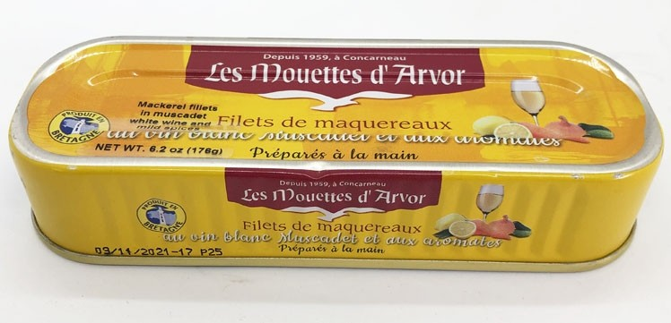 Fillets of Mackerel marinated in White Wine (Muscadet) Mouettes D'Arvor 6.2oz