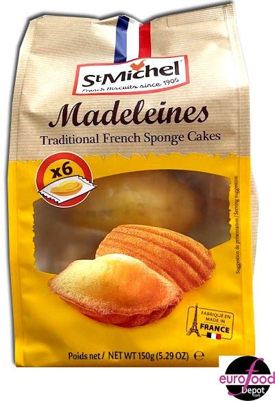 St Michel French Madeleines - 6 individually wrapped