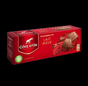 Cote d'Or milk chocolate squares (24 pieces per box)