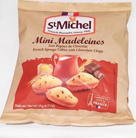 St Michel French Mini Madeleines with Chocolate chips -