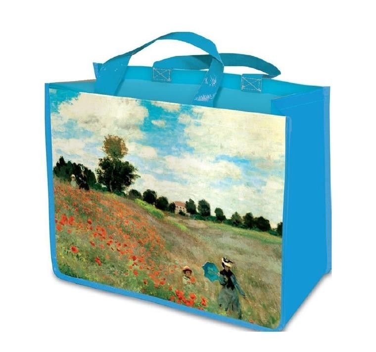 Monet Field of Poppies Shopping bag