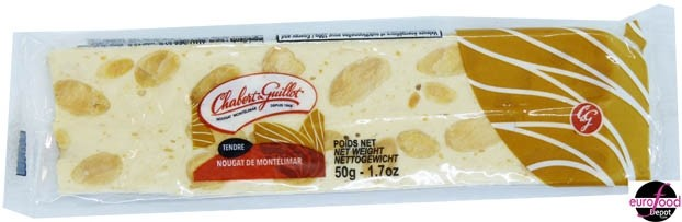 Chabert et Guillot White nougat bar soft nougat with almonds (1.7oz -50g)