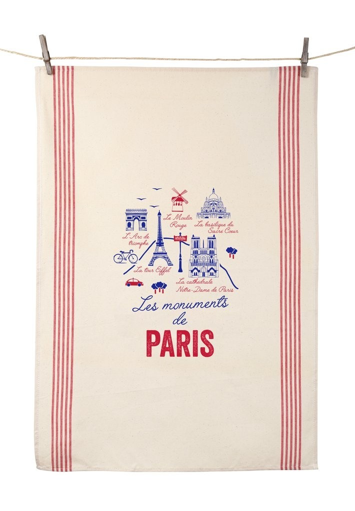 """Dish Towel """"Les Monuments de Paris"""" (21.6"""" x 31.4"""")"""