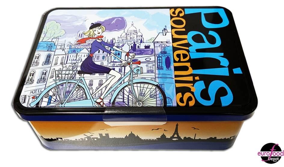 "Small pure butter galettes with honey in a metal tin ""Paris Souvenirs"" by Le Manoir des Abeilles"