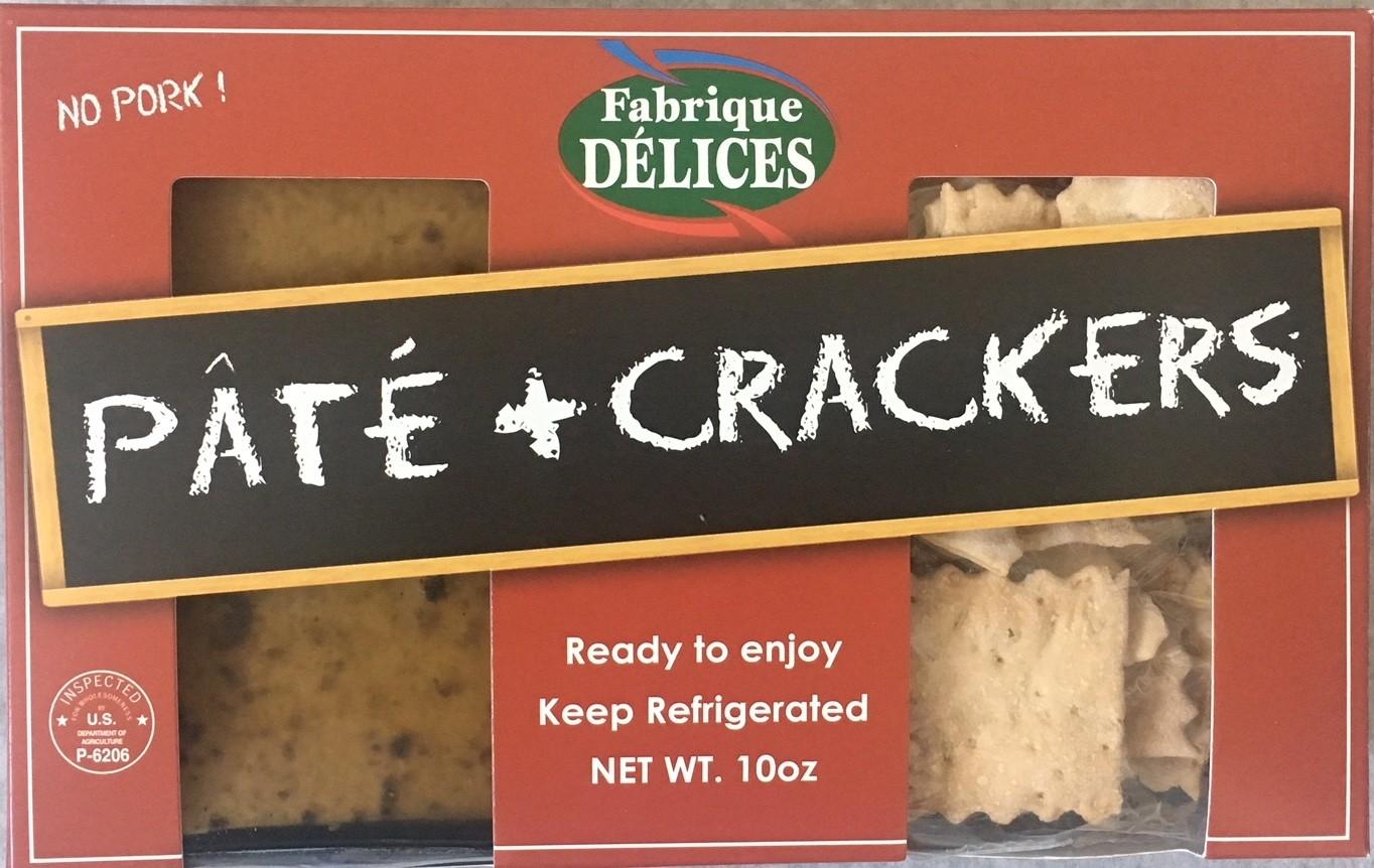 Pâté & crackers snack pack - 1 truffle mousse 7oz + organic flatbread crackers 3oz