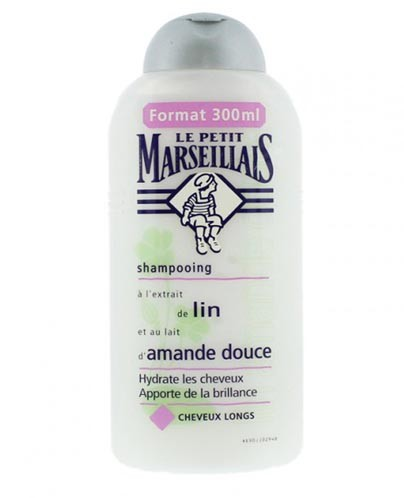 Le Petit Marseillais French Shampoo - Sweet Almond Milk and Linen Extract/ Au lait d'Amande Douce et a la graine de lin (8.4fl oz/ 250ml)