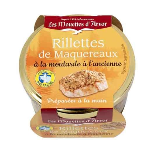 Mouettes d'Arvor - Mackerel Rillettes with Grain Mustard 125g (4.4 oz)