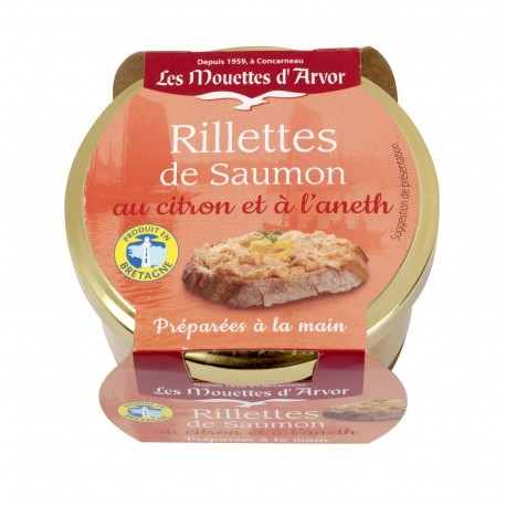 Mouettes d'Arvor Salmon rillettes with lemon and dill