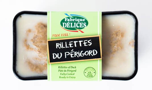 Rillettes du Périgord (duck) Fabrique Delices (7 Oz) - All natural