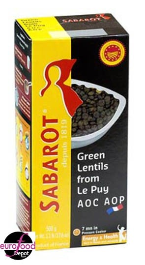 Sabarot French Green Lentils from Le Puy