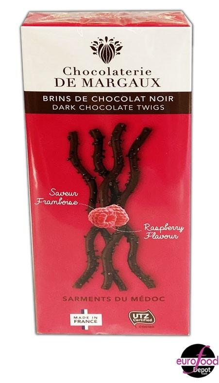 Sarments Dark chocolate twigs w/ raspberry  Chocolaterie de Margaux 80g